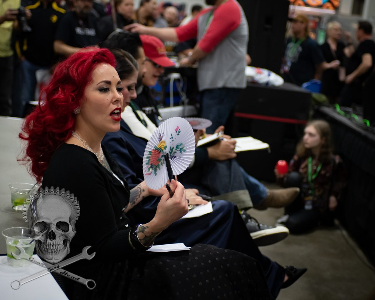 "Former Miss Autorama ""Eve of Destruction"" (Michelle Welch) judging the 2019 contest.(Oh, it was really hot down there)  Miss Autorama Contest 2019"