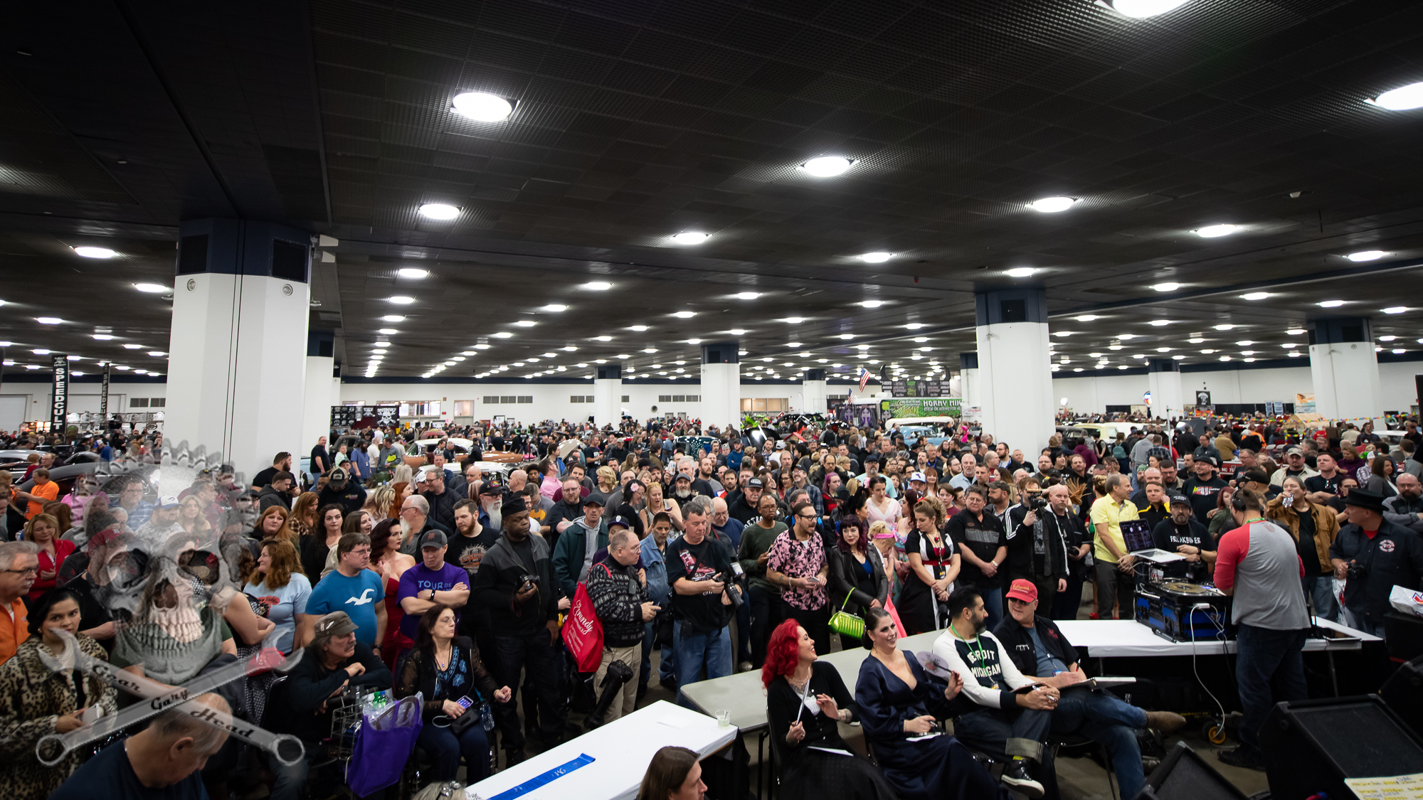 Huge crowd in attendance.Miss Autorama Contest 2019