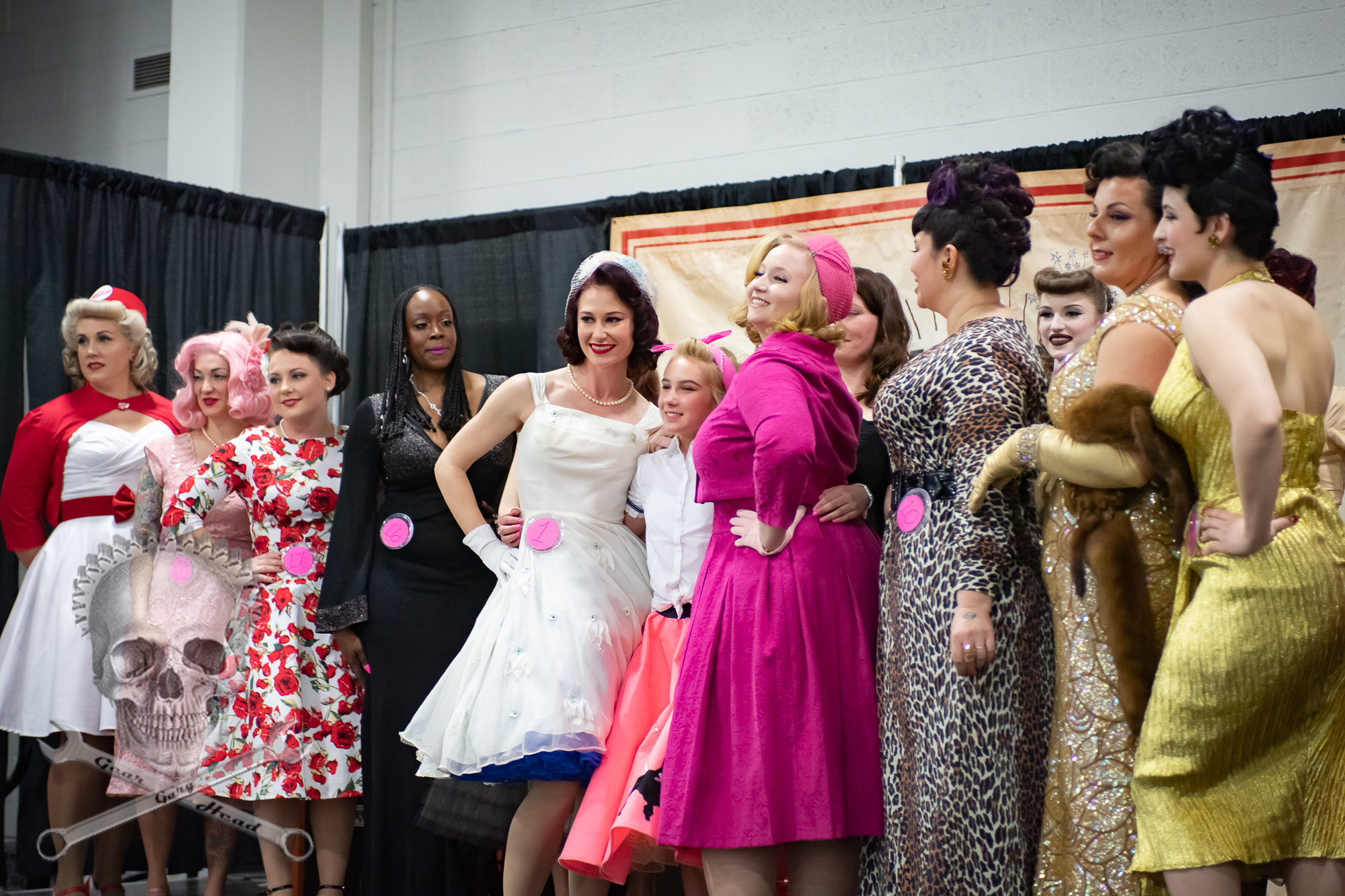 Ava with the 2019 contestants.Miss Autorama Contest 2019